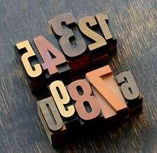 0-9 Zahlen Mix Plakatlettern letterpress Lettern Ziffern Stempel Zahlen Ziffer.!