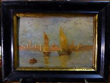 Henri Duvieux (1855-1902)(attribué), Vue sur le Bosphore, XIXe huile sur panneau