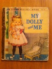 My Dolly And Me Vintage Little Golden Book 1961 Sydney 4 Colour Back Scarry