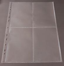 10-100x A4 Sammelhüllen Prospekthüllen Kartenhüllen 120my geteilt auf A5, A6 A8
