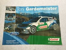 AFFICHE POSTER FORD FOCUS WRC GARDEMEISTER RALLYE MONTE CARLO 2005 RALLY