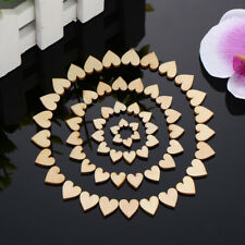 200pcs Rustic Wooden Wood Love Heart Wedding Table Scatter Decoration Crafts