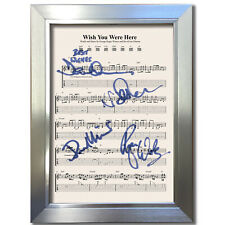 More details for pink floyd wish you were here music sheet signed autograph photo repro a4 804