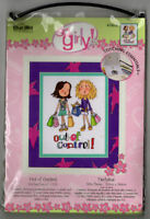 Bucilla Counted Cross Stitch Kit So Girly Out of Control Shopping Cute DIY Craft