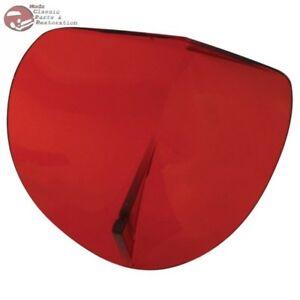 Vintage Style Bi Flector Hood Molding Accessory Wind Air Bug Deflector Red New