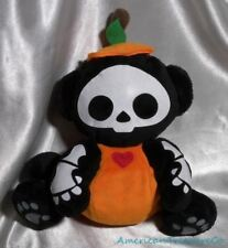 "Retired Jakks Skelanimals 9"" Plush Monkey In Halloween Pumpkin Costume Outfit"