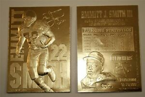 EMMITT SMITH LIMITED EDITION SIGNATURE 23KT GOLD CARD! COWBOYS ALL-TIME RUSHER!!