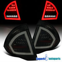 For 2010-2012 Ford Fusion Glossy Black Full LED Tail Lights Brake Lamps Smoke