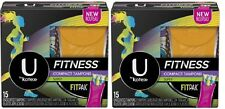 Lot2x U By Kotex Fitness Tampons FITPAK Super Absorbency Unscented 15ct FreeShip