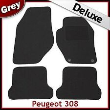 Peugeot 308 CC Coupe Cabriolet 2009 onwards Tailored LUXURY 1300g Car Mats GREY