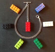 New silver colour Albert pocket watch chain with clasp,t-bar and lego fob