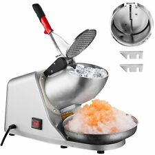 300w Electric Steel Ice Shaver Machine Stainless Steel Snow Shaved Ice Crusher