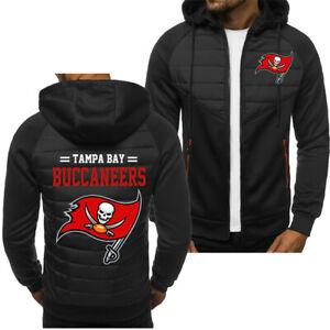 Tampa Bay Buccaneers Fans Hoodie Sporty Jacket Zip up Coat Autumn Sweater Tops