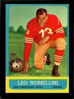 1963 TOPPS #143 LEO NOMELLINI EX 49ERS HOF *SBA1444
