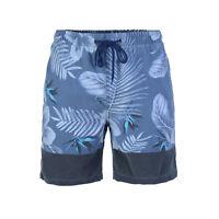 Beautiful Giant Men's Floral Beach Pocket Swim Trunk Swimwear Board Short Blue