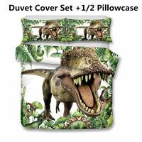 Dinosaur Duvet Cover Set 3D Kids Animal Bedding Set Twin Full Queen King Size