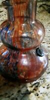 """Beautiful Hand Blown Large Glass Super Bong Water Pipe 12.5"""" new Curves&colors"""
