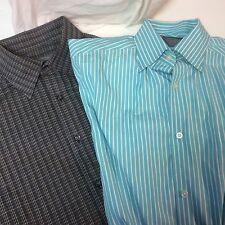 2 Talbots Men's Dress Shirt Size M Long Sleeve Ships Free