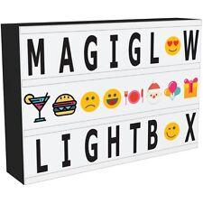 A4 cinematografico Light Up Cassetta delle lettere LED Segno Di Placca Cinema Festa Matrimonio negozio USB