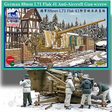 BRONCO MODELS 1/35 WWII GERMAN 88mm L71 FLAK 41 ANTI-AIRCRAFT GUN W/ CREW KIT