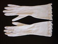 Gants longs anciens vintage coton blanc, TBE