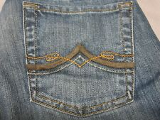 LUCKY BRAND WOMENS BOOTCUT FIT DISTRESSED DARK BLUE JEANS SIZE 26 LONG NEW RARE