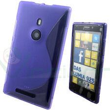 Custodia WAVE VIOLA per Nokia Lumia 925 cover flessibile semi trasparente TPU