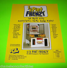 1/2 PINT FRENZY By ICE ORIGINAL NOS BASKETBALL REDEMPTION ARCADE GAME FLYER