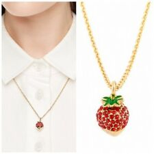 Kate Spade Chocolate Dipped Strawberry Necklace NWT Outside the Box Necklace
