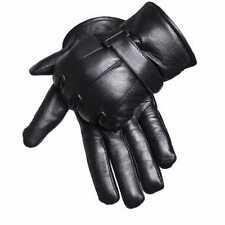 Gants cuir homme noir rembourage polaire interne scratch taille S M L XL XXL