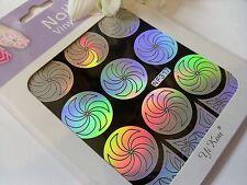 Nail Art Vinyl Manicure Stencils Guide Flower Swirls Style Manicure Sticker N317