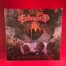 Entombed Clandestine 1991 GB Vinyle LP+Inner Excellent État Original