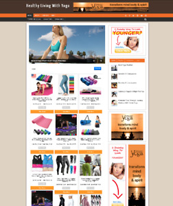 HEALTHY LIVING WITH YOGA WEBSITE & STORE WITH AFFILIATE OPTIONS - FULLY STOCKED