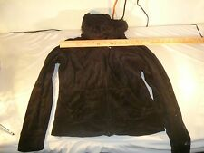 EUC Wet Seal Jacket Faux Fur Lining with Lace in Hood Zip up Hoodie with 80176