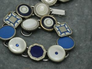 ART Deco Cufflink Bracelet : got the Blues