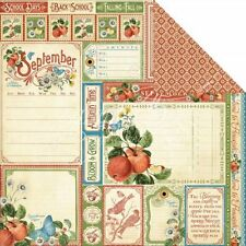 Graphic45 2 sheets, Time to Flourish Collection, Cut Apart, SEPTEMBER