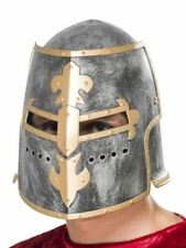 Smiffys Medieval Crusader Helmet With Moveable Face Shield