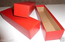 "2 Red Coin Storage Boxes-Single Row (9""x2""x2"") for 2x2s U-DO-ITS Flips + Mylar"
