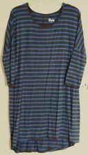 BETTY BASICS Rome 3/4 DRESS  Soot & Cobalt Blue stripe DRESS  NEW! ~ Women sz 10