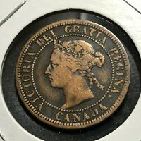 1882-H CANADA LARGE CENT BETTER COIN