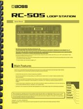 Boss RC-505 Loop Station OWNER'S MANUAL and SUPPLEMENT MANUAL
