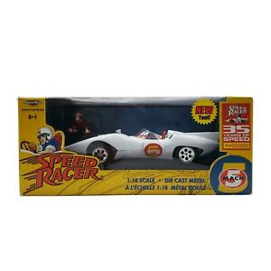 Speed Racer Mach 5 Diecast Metal 1:18 Scale Car ©️2002 RC ERTL, INC. Collectible