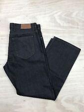 M&S Autograph Straight Leg Jeans, Regular Fit, Indigo V. Dark Wash, W38 L31, VG+