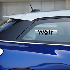 The Word Wolf With A Paw Print For The O As A Vinyl Sticker