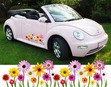 Girly Daisy fleurs voiture van vélo autocollants decal Graphics-Beetle, Mini