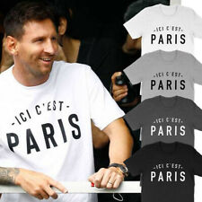 NEW!! Messi Ici C'est Paris Lionel St Germain Psg Soccer Football French T-Shirt