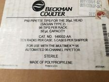 Beckman Coulter Sagian 2, P50 for the 20 UL Head, Pipette Tips, NEW, ID# 300126