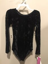 New With Tags Childs 12-14 Black Long Sleeve Velvet Gilda Marx