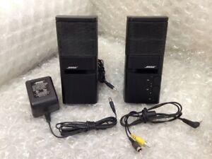 Bose MediaMate Computer Speakers Pair in Black w/ AC Adapter