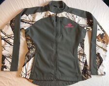 Mossy Oak Softshell Waterproof Camo Full Zip Jacket Women's SZ S EUC